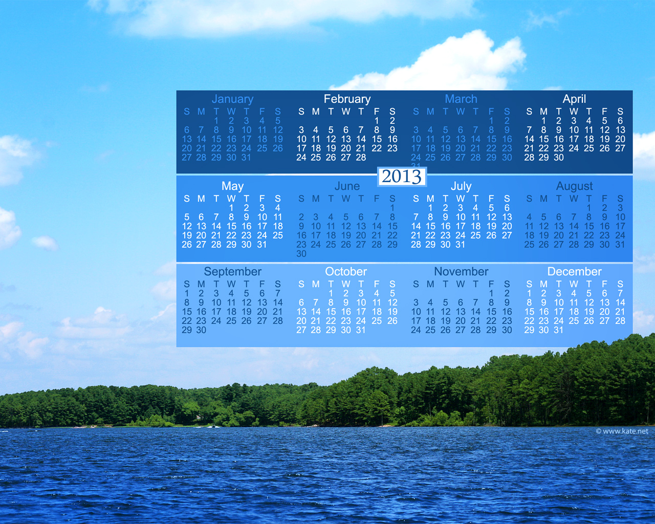 2013 Full-Year Calendar Wallpapers, Yearly Calendar Backgrounds by ...