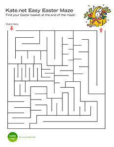 Printable Easter Maze Game From Kate