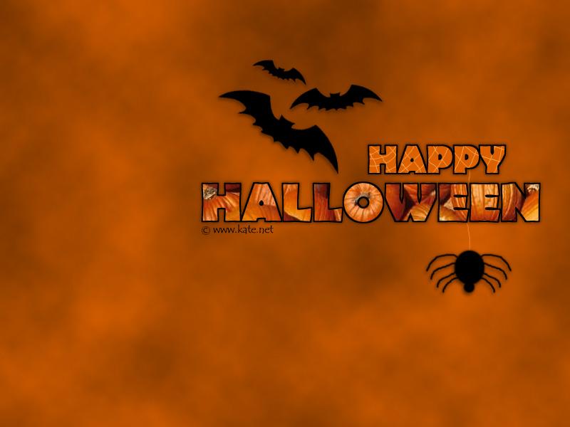 Bats And Spider Wallpaper