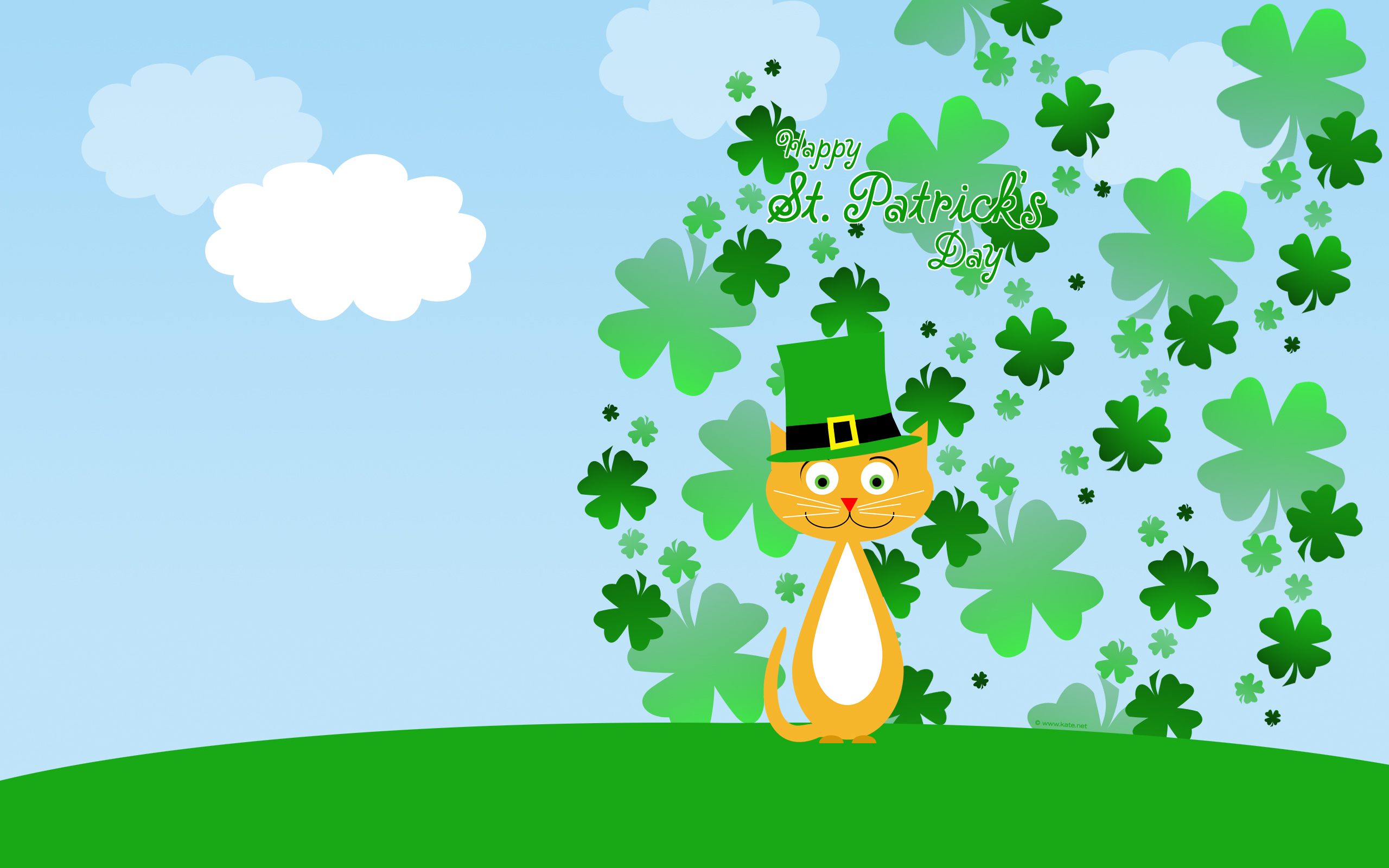patricks day shamrock background-#34